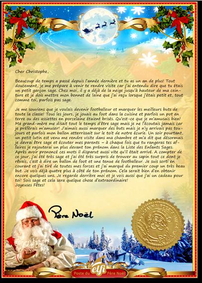 Lettre Electronique Au Pere Noel.Recevoir Une Lettre Personnalisee Du Pere Noel Elfi Santa